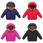 Kids Boys Girl Winter Warm Hooded Cotton Coat Down Jacket Padded Outwear Clothes