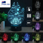 Star Wars Millennium Falcon 3D Acrylic LED Night Light Color USB Desk Lamp Gifts $24.99 AUD