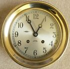 "CHELSEA SHIP'S BELL 8-day, 6"" dial CLOCK w/ KEY, 1972, Solid Brass, *FREE SHIP!*"