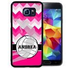PERSONALIZED RUBBER CASE FOR SAMSUNG S8 S7 S6 S5 EDGE PLUS CHEVRON VOLLEYBALL