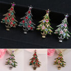 Muti Christmas Tree Alloy Rhinestone Gold Sliver Plated Brooch Pin Jewelry