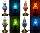 New Pear Shaped Moroccan Turkish Ottoman Handmade Tiffany Mosaic Table Desk Lamp