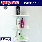 3 pcs Corner Basket Storage Holder with Suction Cup Bathroom Shower Room