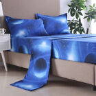 Cosmic Galaxy Fitted Sheet Set Double Queen King Size Bedding Set Bed Sheets NEW