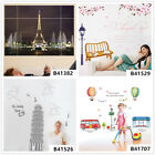 Famous City Scenery Home Room Decor Removable Wall Stickers Decals Decorations