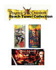 "Pirates Of The Caribbean Skull Beach Towel Collections 30""x60"""