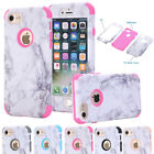 For iPhone 5 6 6s 7 Plus Glossy Ultra Thin Marble Pattern Rubber Soft TPU Case