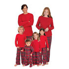 Family Matching Christmas Pajamas Sets Plaid Xams Sleepwear for Mom Dad Kids