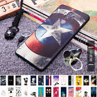 Patterned Soft TPU Silicone Phone Case Cover + Sling Ring for Huawei Mate 9