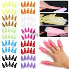 10PC Nail Art Soak Off Cap Clip Plastic UV Gel Polish Remover Wrap Sets Popular@