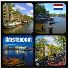AMSTERDAM SIGHTS - NOVELTY SOUVENIR  COASTERS - SETS OF 4, 6 OR 8 - GIFTS / XMAS