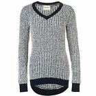 Womens SoulCal V Neck Long Knitted Jumper Sleeve New