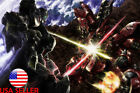 "Gundam 0079 Sazabi Nu Model 24"" x 16"" Large Wall Poster Art Print Gift Decor"