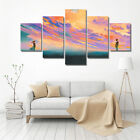 Spray Printed Oil Painting Men And Women In The Sunset Wall Decor Art-NEW