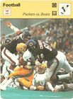 PACKERS VS BEARS 1978 Sportscaster card #27-06 CHICAGO BEARS GREEN BAY PAKCERS