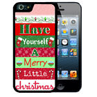 CHRISTMAS RUBBER CASE FOR iPHONE X 8 7 6 5 SE 5c 5 PLUS MERRY LITTLE