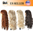 GEX Synthetic Wigs Long Natural Straight Wavy Hair Fiber Full Wigs For Women
