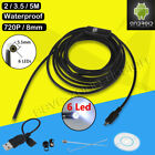 HD Waterproof WiFi Endoscope Inspection 8 LED Camera for iPhone Android PC iPad