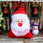 Santa Claus Chirstmas Large Red Gift Bags Print HO Present Sack Storage Pouch