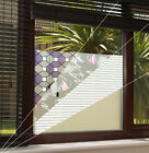 Frosted Window Privacy Film Vinyl *FREE TOOLS!* Squares, Lines, Plain 15 DESIGNS