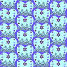 Flowering Bat Mitzvah Stars Of David Jewish Fabric Printed by Spoonflower BTY