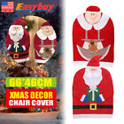 Mr&Mrs Santa Claus Christmas Chair Back Cover Dinner Table Party Decor Gift New