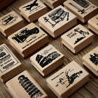 rubber bridge - Retro Scenery Wooden Mounted Rubber Stamp Postcard Making DIY Scrapbooking Craft