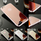 For iPhone 7 5s SE 6 6s Plus  Ultra Thin Slim Silicone Mirror Rugged Case Cover