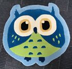Luxury Blue Owl Shaped Rug Blue, Quality GIrls Blue Owl Bedroom Rug Accessories