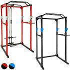 Fitness power station home trainer rack cage sit pull press chin dip gym workout
