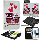 Universal Magnetic Leather Wallet Book Flip Case Cover For HTC Phone Models