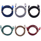 For iPhone 6 Plus 6 5 Colorful Braided Wire Rope USB Data Charge Charging Cord w