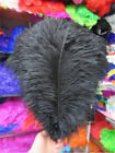 10-200 pcs high-quality natural ostrich feathers 6-24 inch/15-60cm Black