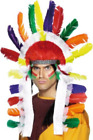 Native American Inspired Long Chief Headdress, Multi-Coloured  AC NEW