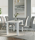 Miami High Gloss Dining Table with 4 Boston Dining Chairs
