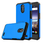 For ZTE Maven 3/Overture 3 Hybrid Rugged Rubber Slim Armor Skin Phone Case Cover