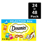 Dreamies Cat Treats Selection Box 4 x 30g Cat Biscuits In Pack Of 6 Or 12