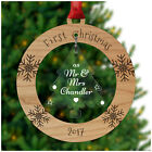 PERSONALISED First 1st Christmas Xmas Married Couple Mr Mrs Husband Wife Gifts