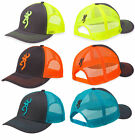 Men's Browning Flashback Cap Buckmark Hat Mesh Snapback Neon Orange/Blue/Green