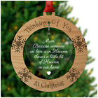 Christmas Decoration In Memory Memorial Special Remembrance Bauble Xmas Love