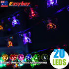 Solar Butterfly Shape 20LED Fairy String Light Outdoor Party Lamp 3 Colors