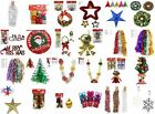 Christmas Tree Decoration Baubles Snowflake. Garlands, Tensils, Bells
