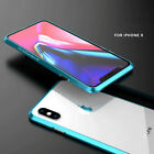 Luphie Metal Aluminum Bumper Frame Shockproof Cover Case For iPhone X XS MAX XR
