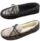 Kyпить Jockey Women's Cozy Faux Shearling Lined Slip On Moccasin Slippers Black / Taupe на еВаy.соm