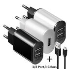 5V 2A EU Dual USB 2-Port Fast Charger Mobile Phone Wall Power Adapter For iPhone
