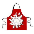 Christmas Pattern Kitchen Restaurant Aprons Cleaning Apron Dress Gifts Unisex