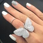 BUTTERFLY Ring for Women Jewelry 925 Sterling Silver 18k Rose Gold Size 6 7 8 9