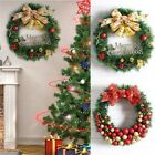 Christmas Party Home Decoration 30cm Wreath Rattan Pendant Toys For Kids Childre