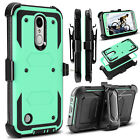 For LG Aristo/Fortune/Rebel 2/Phoenix 3 4/Aristo 2 Case Hybrid Stand Phone Cover