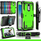 For LG Aristo/ Phoenix 3/ Rebel 2 Hybrid Shockproof Holster Kickstand Case Cover